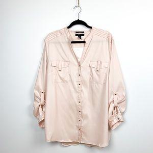 Light Pink Long Sleeve Button-Up Shirt
